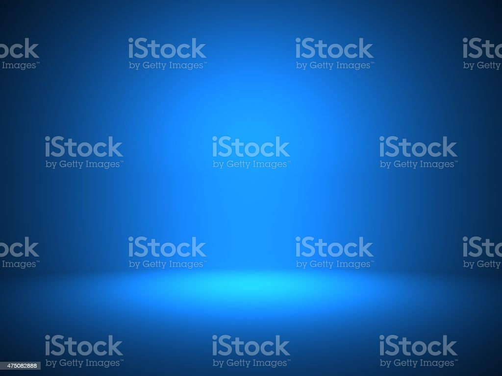Template blue background empty interior stock photo