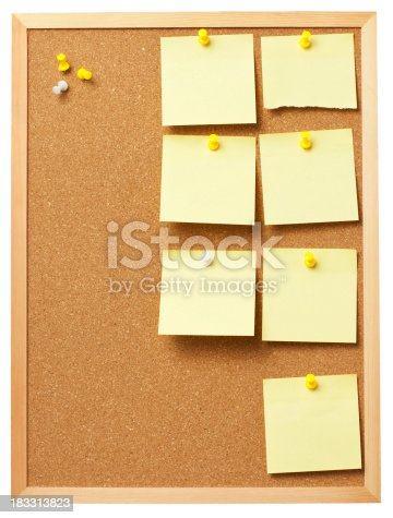 Template Cork Board With Notes Stock Photo & More Pictures of ...