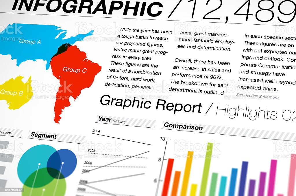 Template for a business infographic royalty-free stock photo