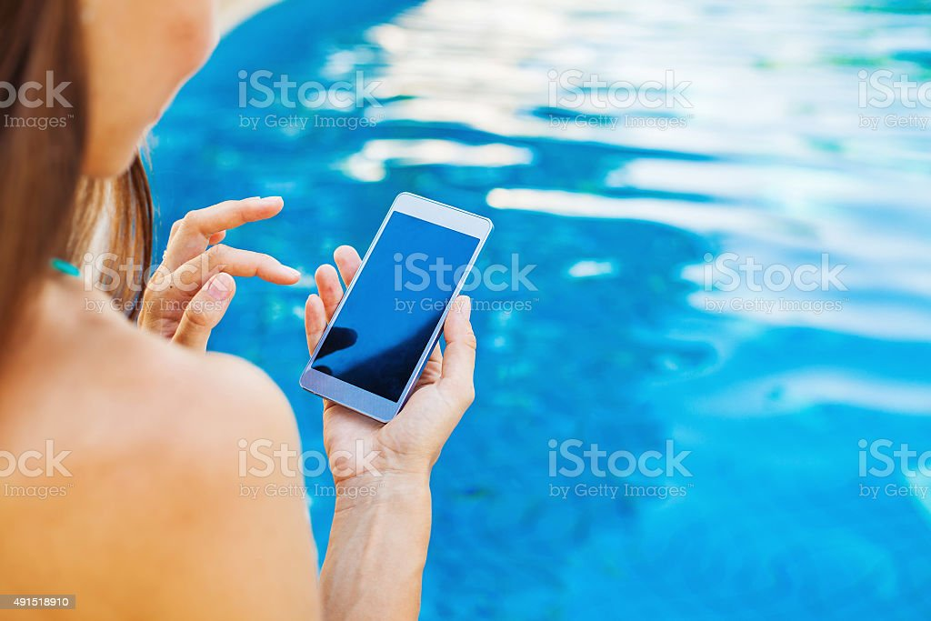 template for a smart phone app stock photo