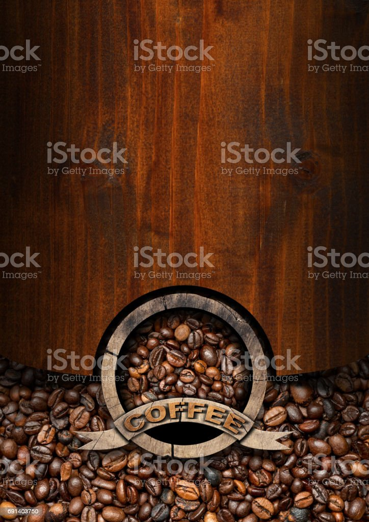 Template for Coffee House Menu stock photo