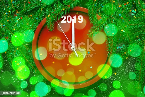 istock Template for Greeting card New Year and Christmas 1082502946