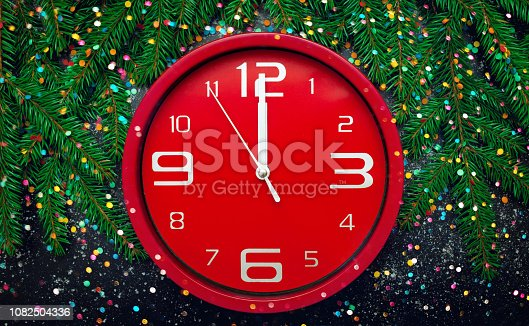 istock Template for Greeting card New Year and Christmas 1082504336