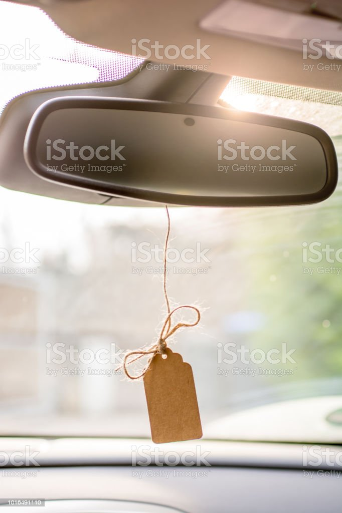 Template for greeting in the car stock photo