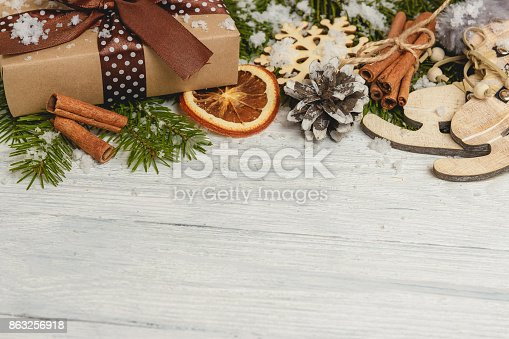 859002854 istock photo Template for New Year space for text. Mockup for advertising, congratulations 863256918