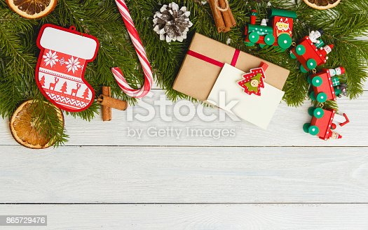 859002854 istock photo Template for New Year space for text. Mockup for advertising, congratulations 865729476