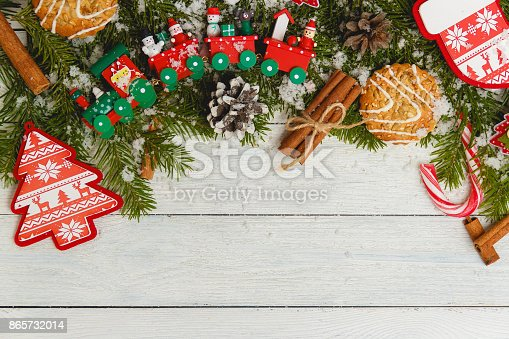 859002854 istock photo Template for New Year space for text. Mockup for advertising, congratulations 865732014