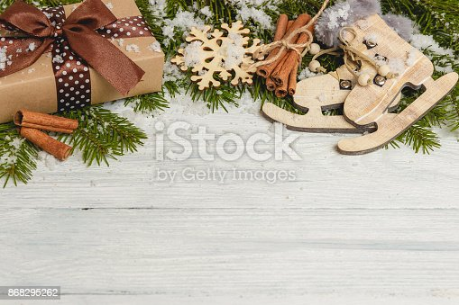 istock Template for New Year space for text. Mockup for advertising, congratulations 868295262
