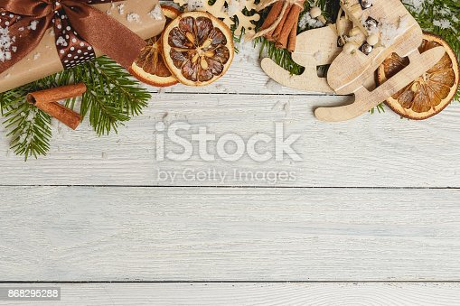 istock Template for New Year space for text. Mockup for advertising, congratulations 868295288
