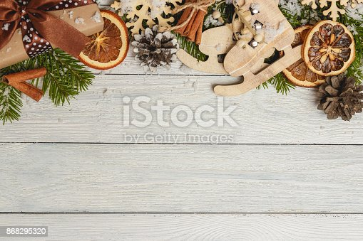 istock Template for New Year space for text. Mockup for advertising, congratulations 868295320
