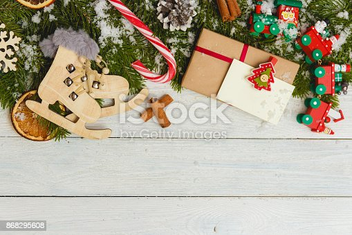 istock Template for New Year space for text. Mockup for advertising, congratulations 868295608
