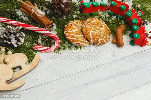istock Template for New Year space for text. Mockup for advertising, congratulations 868295638