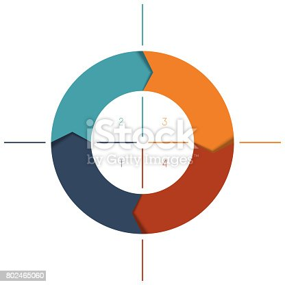 istock Template Infographics cyclic processes, colour ring 802465060