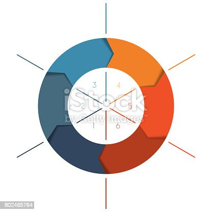 istock Template Infographics cyclic processes, colour ring 802465764