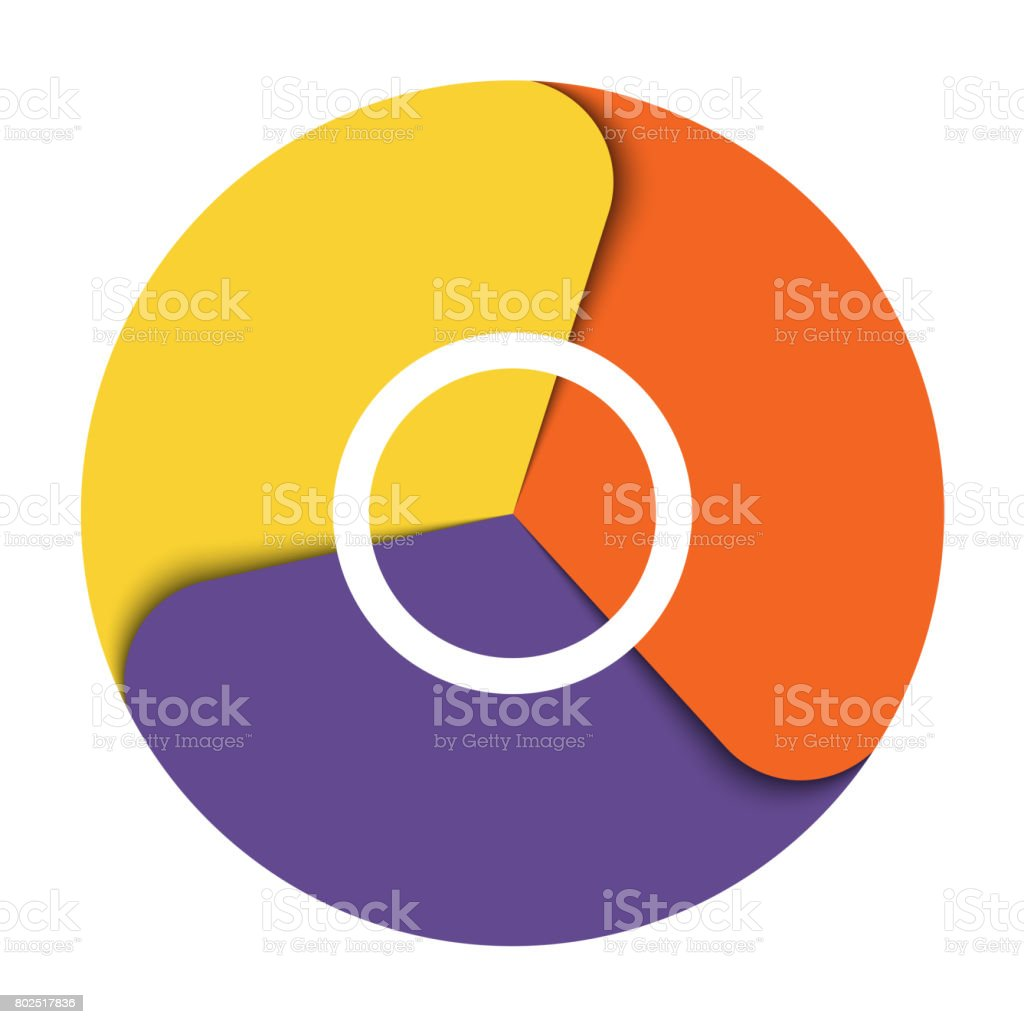 Template infographics three position For diagram data Elements stock photo