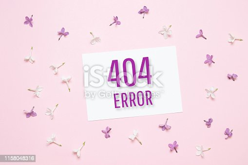 istock Template reports that the page is not found. 1158048316