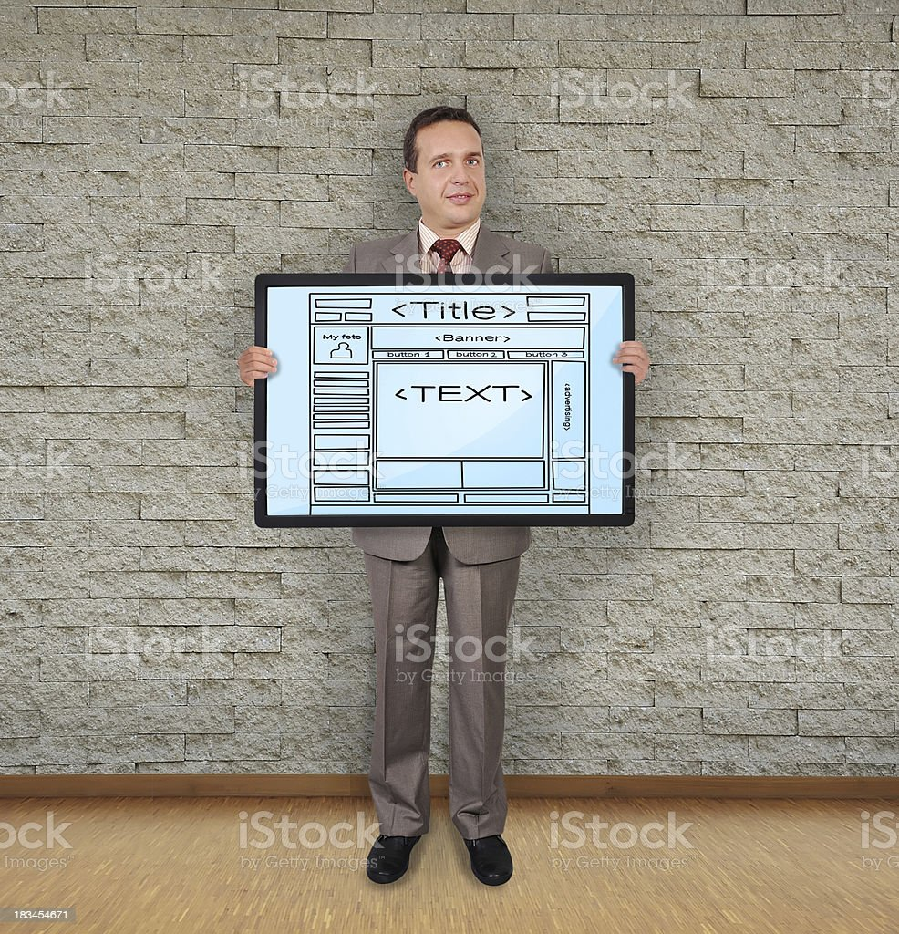 template web page royalty-free stock photo