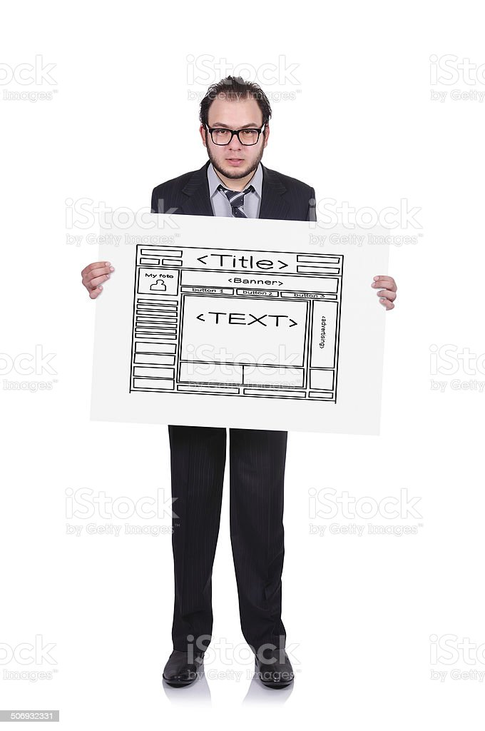 template webpage royalty-free stock photo