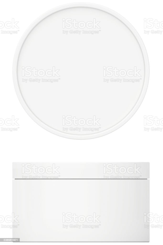 Template white cream for body cream, lotion or gel with stock photo