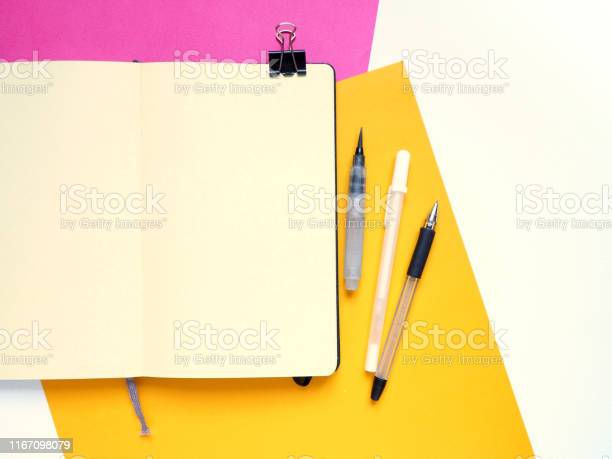 Template with blank notebook and drawing tools on white yellow and picture id1167098079?b=1&k=6&m=1167098079&s=612x612&h=yqhfjamq5qrvpmk0cxo pj5dskrcxsxnjul5cmshone=