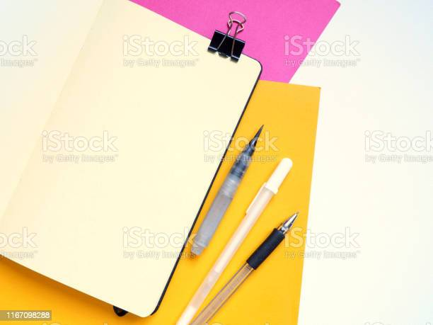 Template with blank notebook and drawing tools on white yellow and picture id1167098288?b=1&k=6&m=1167098288&s=612x612&h=bgsi0pob wzgivvg358dsw 3creopxtj01ftsk6ryoc=