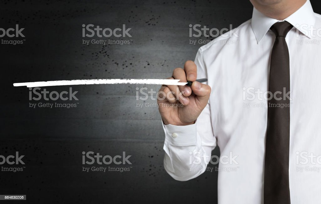 Template with underline is written by businessman stock photo