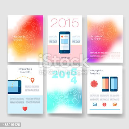 501147202 istock photo Templates. Design Set of Web, Mail, Brochures. Mobile, Technology, Infographic 483219426