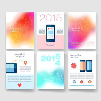 Templates. Design Set of Web, Mail, Brochures. Mobile, Technology, and Infographic Concept. Modern flat and line icons. App UI interface mockup. Web UI design.