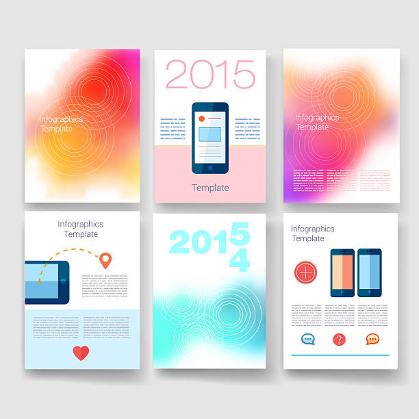 Templates. Design Set of Web, Mail, Brochures. Mobile, Technology, Infographic stock photo