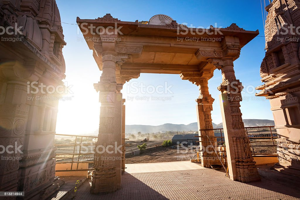 Temple arch in India stock photo