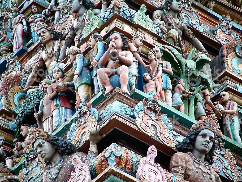Temple architecture in Chennai,India stock photo