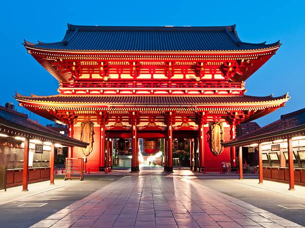 Temple at Asakusa, Tokyo  bodhisattva stock pictures, royalty-free photos & images