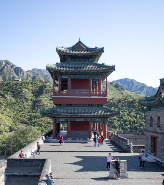 Tempel am Eingang zu einem Teil der Chinesischen Mauer – Foto