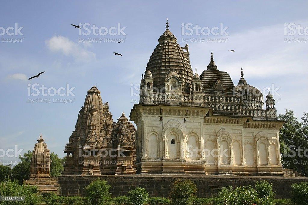 Temple at Khajuraho, India stock photo