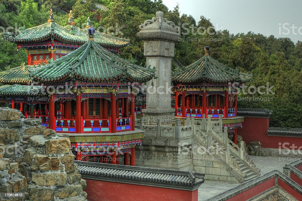 Temple at the Summer Palace stock photo
