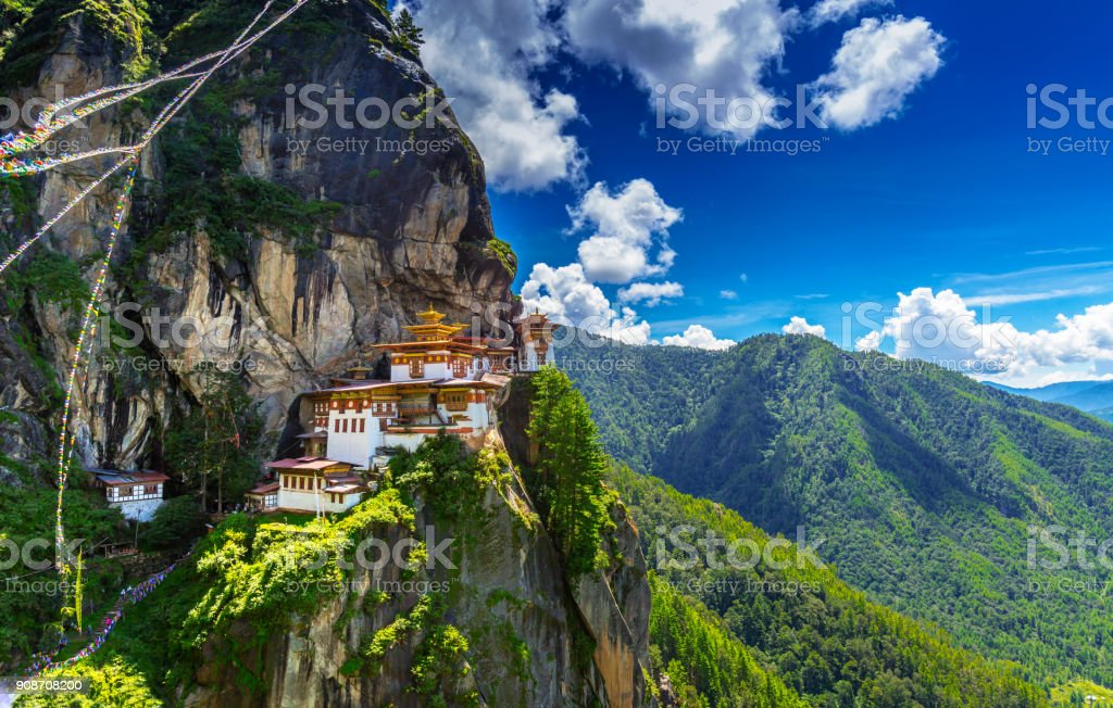 Temple at the top of the world stock photo