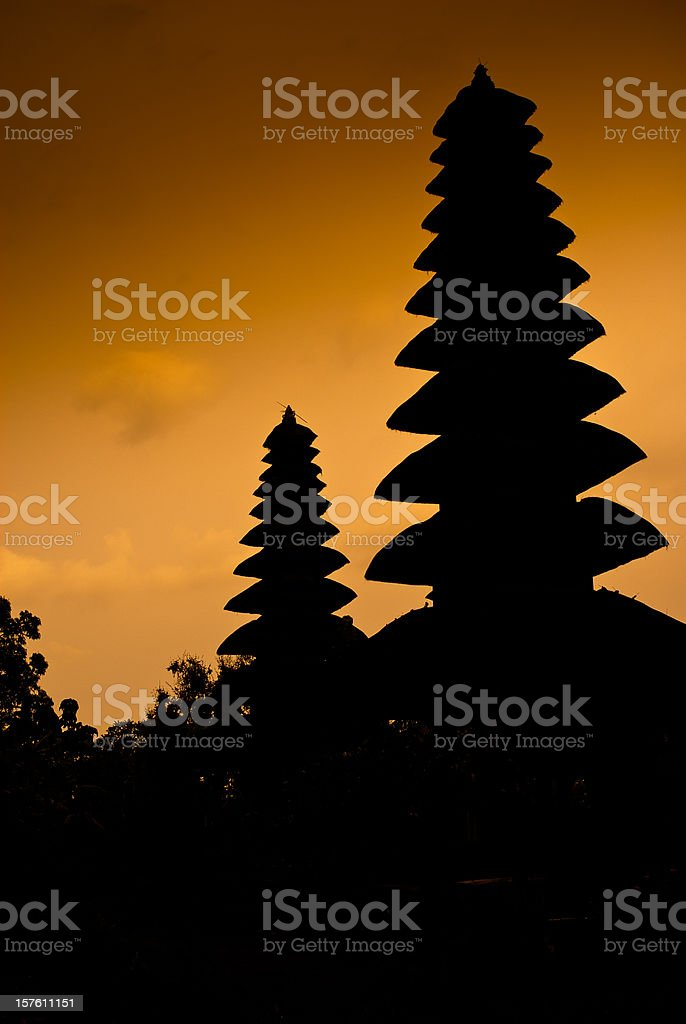 Temple Bali Silhouette royalty-free stock photo
