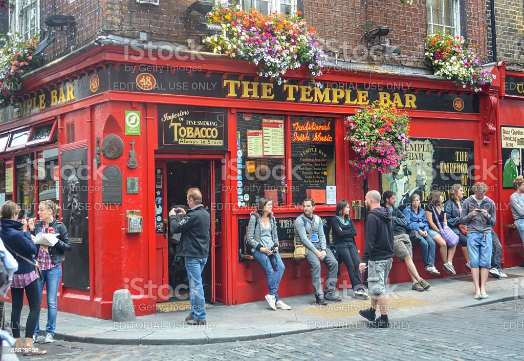 Temple Bar in Dublin Ireland royalty-free stock photo