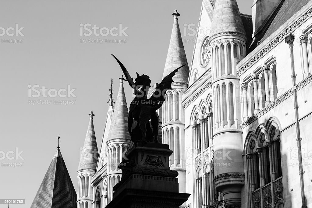 Temple Bar Monument at Royal Courts of Justice, London stock photo
