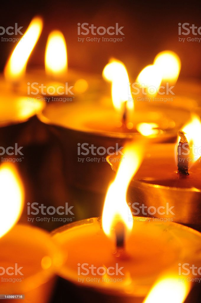 Temple candles royalty-free stock photo
