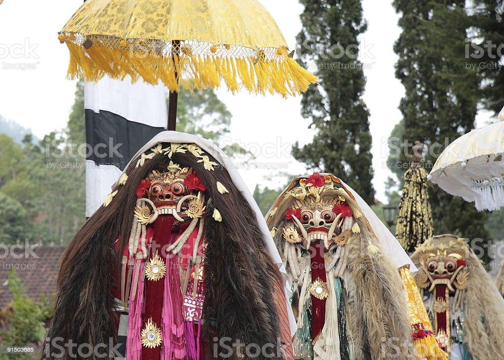 Temple Ceremony, Pura Ulun Danu Bratan, Bali stock photo