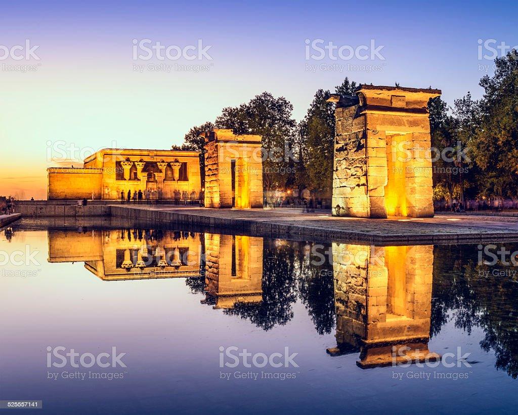 Temple Debod of Madrid stock photo