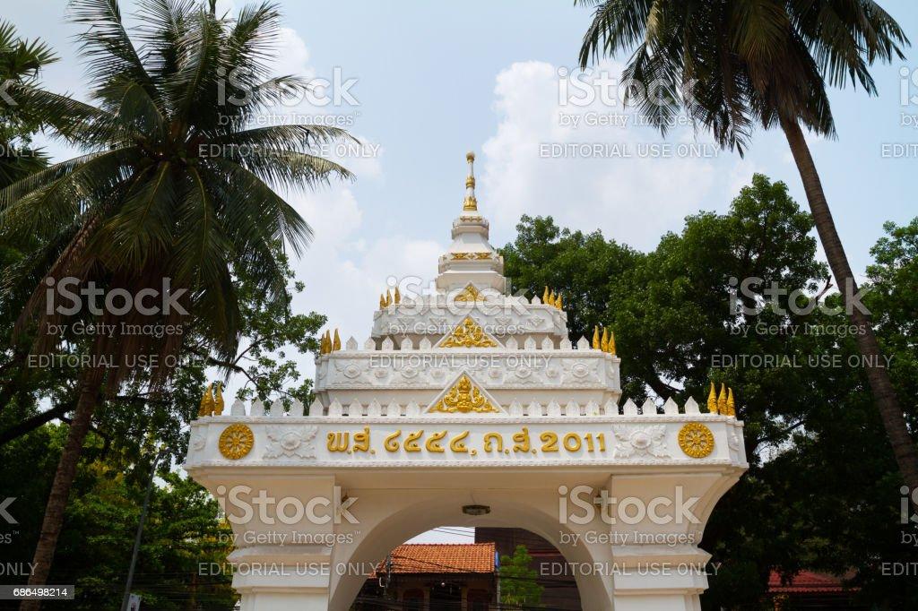 Temple element in Vientiane stock photo