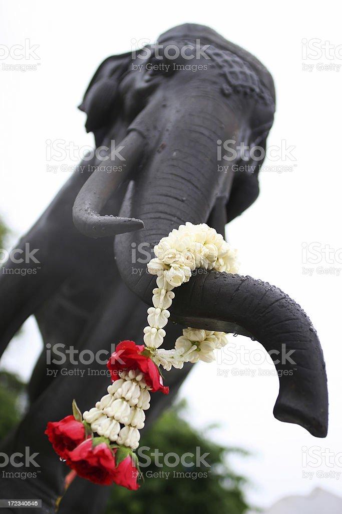 Temple elephant royalty-free stock photo