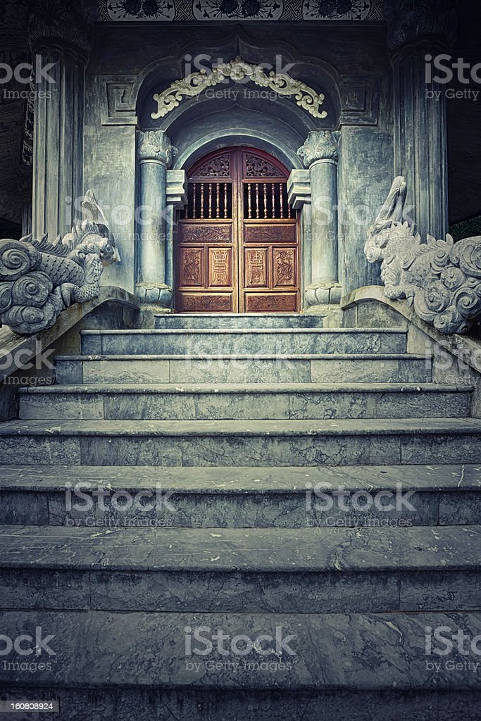 Temple entrance stock photo