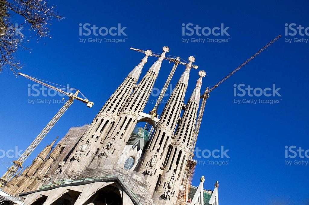 Temple Expiatori de la Sagrada Familia royalty-free stock photo