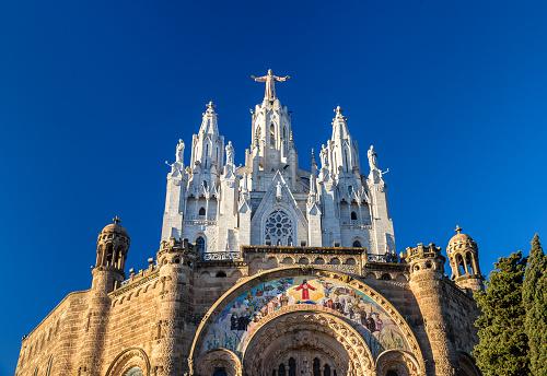 Temple Expiatori del Sagrat Cor on Tibidabo mountain in Barcelon