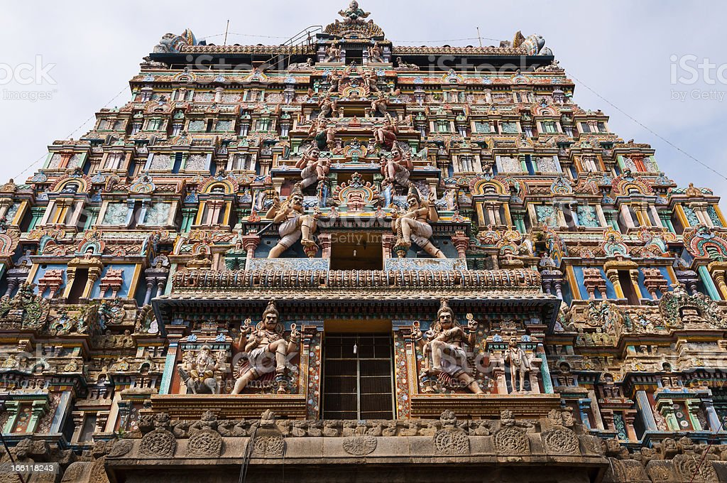 Temple Facade stock photo