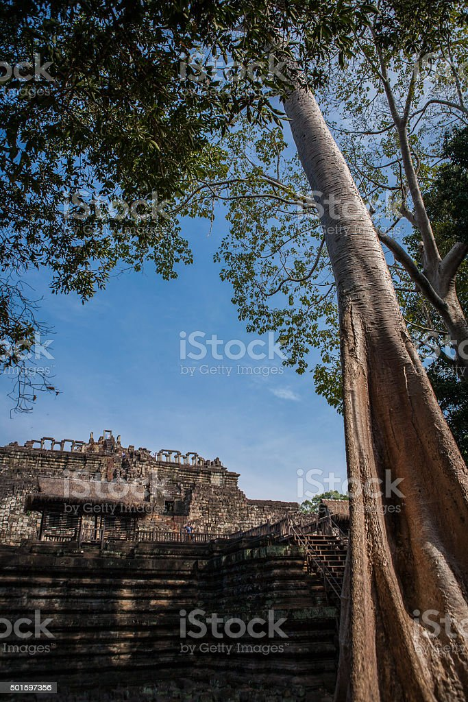Temple from the Angkor Empire stock photo