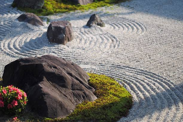 templo al jardín - kyoto fotografías e imágenes de stock